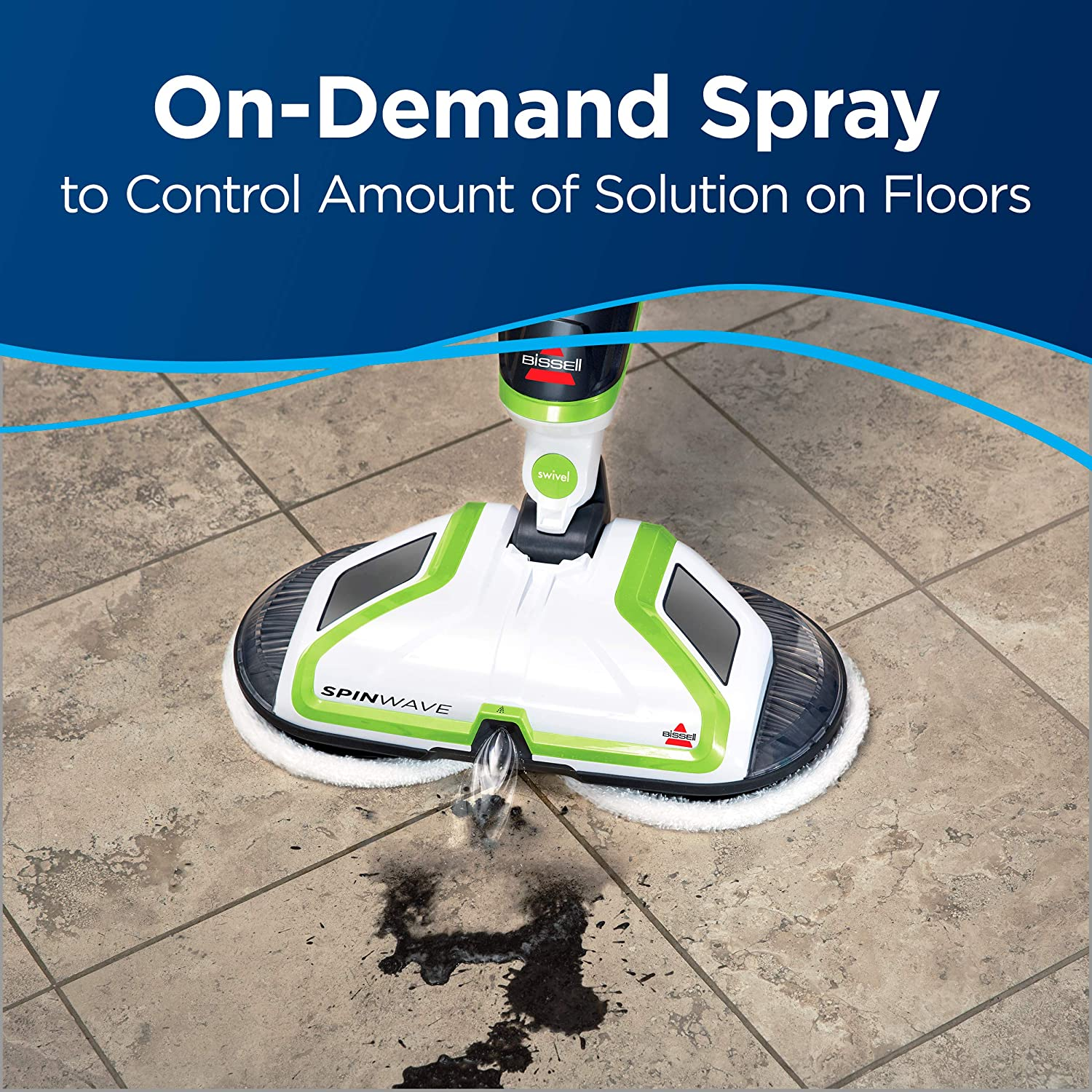 bissell spinwave spray on demand
