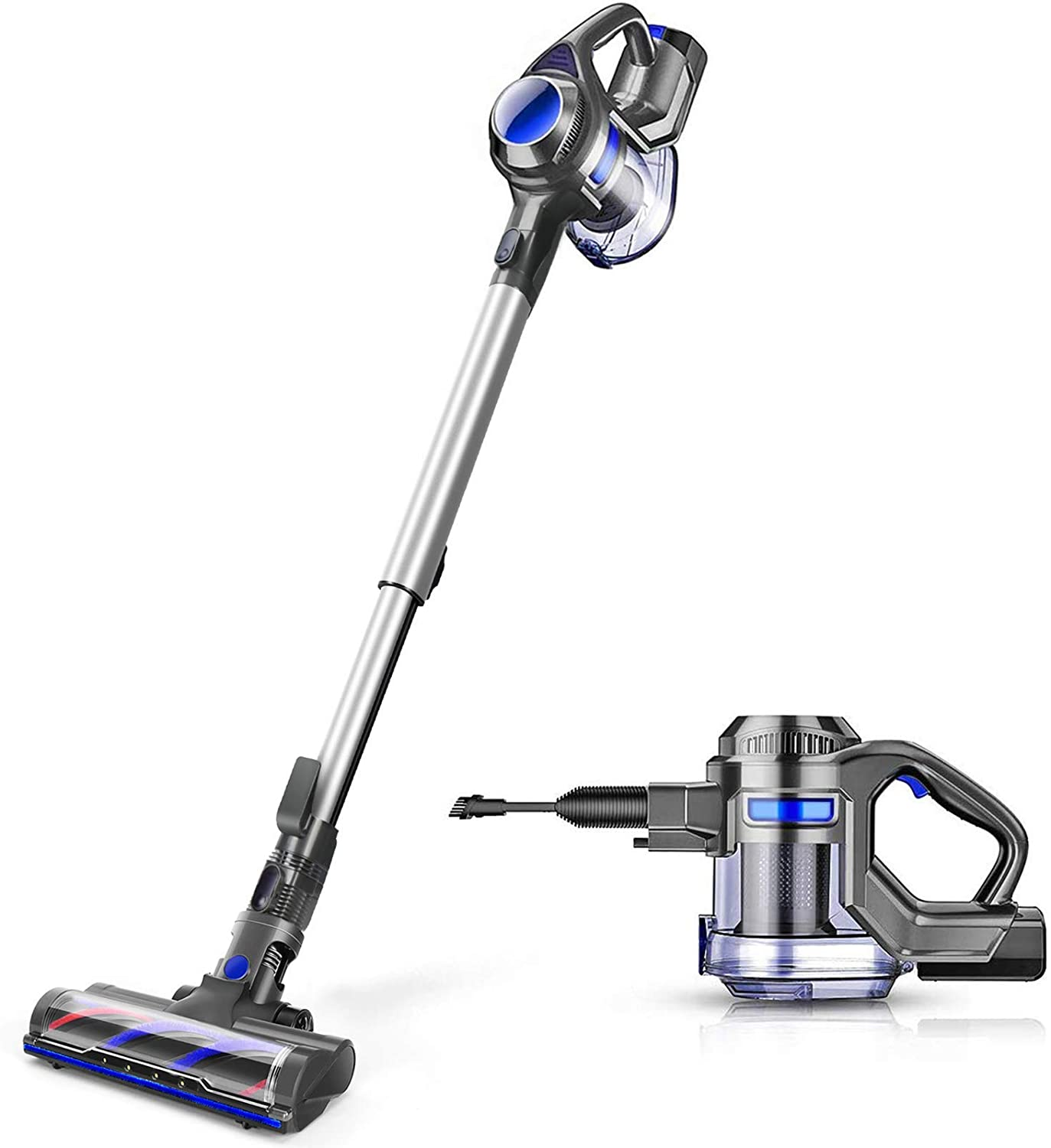 MOOSOO Cordless Vacuum, 4 in 1 Powerful Suction Stick Vacuum